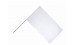 Stockflagge Einfarbig Weiß - 60 x 90 cm