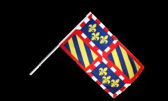 Stockflagge Frankreich Burgund - 60 x 90 cm