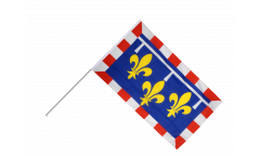Stockflagge Frankreich Centre - 60 x 90 cm