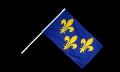 Stockflagge Frankreich Île de France - 60 x 90 cm