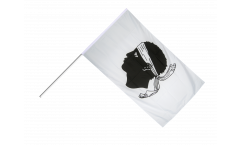 Stockflagge Frankreich Korsika - 60 x 90 cm