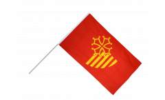 Stockflagge Frankreich Languedoc-Roussillon - 60 x 90 cm