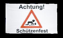Flagge Achtung Schützenfest