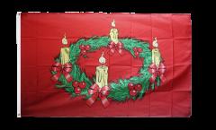 Flagge Adventskranz - 90 x 150 cm
