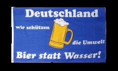 Flagge Bier statt Wasser