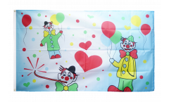 Flagge Clowns Karneval - 90 x 150 cm