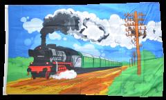 Flagge Dampflok Eisenbahn