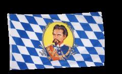 Flagge Deutschland Bayern König Ludwig - 90 x 150 cm