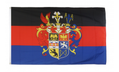 Flagge Deutschland Ostfriesland mit Prachtwappen - 90 x 150 cm