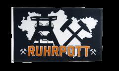 Flagge Deutschland Ruhrpott Ruhrgebiet 4 - 90 x 150 cm