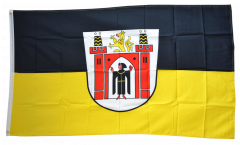 Flagge Deutschland Stadt München mit großem Wappen