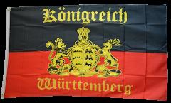 Flagge Deutschland Württemberg mit Schrift