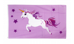 Flagge Einhorn rosa