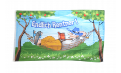 Flagge Endlich Rentner! - 90 x 150 cm