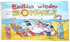 Flagge Endlich wieder Sommer - 90 x 150 cm