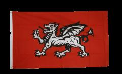 Flagge England weißer Drache - 90 x 150 cm