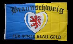 Flagge Fanflagge Braunschweig Für immer blau gelb
