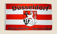 Flagge Fanflagge Düsseldorf Meine Heimat - meine Liebe
