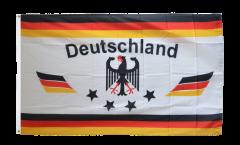 Flagge Fanflagge Deutschland 4 Sterne - 90 x 150 cm