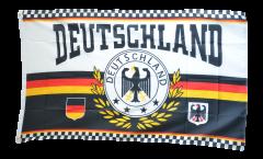 Flagge Fanflagge Deutschland Lorbeerkranz 4 Sterne