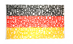 Flagge Fanflagge Deutschland Nationalhymne
