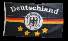 Flagge Fanflagge Deutschland schwarz 4 Sterne
