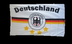 Flagge Fanflagge Deutschland weiß 4 Sterne - 90 x 150 cm