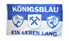 Flagge Fanflagge Gelsenkirchen - Königsblau ein Leben lang - 90 x 150 cm