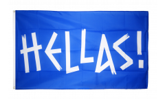 Flagge Fanflagge Griechenland HELLAS! - 90 x 150 cm