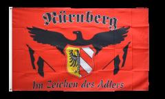 Flagge Fanflagge Nürnberg - Im Zeichen des Adlers