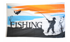 Flagge Fishing - Angeln - 90 x 150 cm
