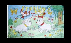 Flagge Frühling - 90 x 150 cm