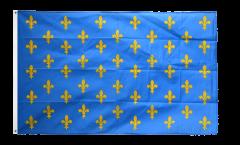 Flagge Frankreich Lilienwappen, blau