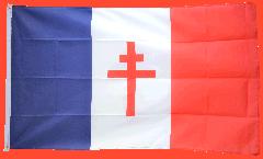 Flagge Frankreich mit Lothringerkreuz - 90 x 150 cm
