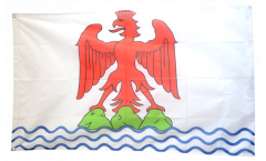 Flagge Frankreich Nizza - 90 x 150 cm