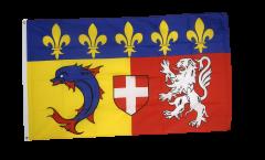 Flagge Frankreich Rhône-Alpes
