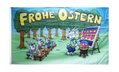 Flagge Frohe Ostern Hasenschule - 90 x 150 cm