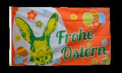 Flagge Frohe Ostern orange mit Osterhase