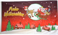 Flagge Frohe Weihnachten rot - 90 x 150 cm