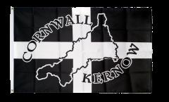 Flagge Großbritannien Cornwall Kernow Silhouette - 90 x 150 cm