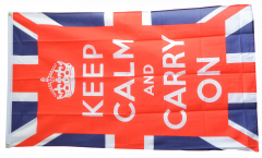 Flagge Großbritannien Keep calm and carry on - 90 x 150 cm