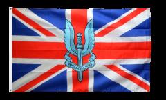 Flagge Großbritannien mit SAS Logo - Who dares wins - 90 x 150 cm
