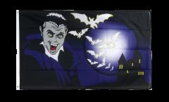 Flagge Halloween Vampir und Fledermäuse - 90 x 150 cm