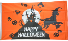 Flagge Happy Halloween orange - 90 x 150 cm