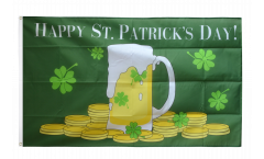 Flagge Happy St. Patrick's Day Bierkrug - 90 x 150 cm