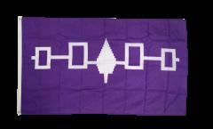 Flaggenfritze/® Tischflagge USA Indiana 10x15 cm