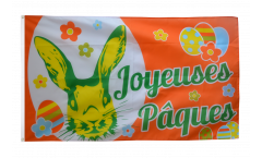 Flagge Joyeuses Pâques - Frohe Ostern
