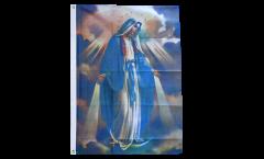 Flagge Jungfrau Maria erleuchtet - 90 x 150 cm