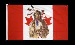 Flagge Kanada Indianer