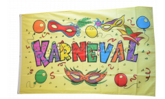 Flagge Karneval gelb